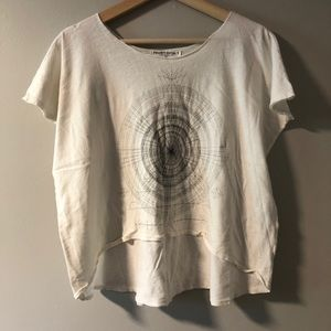 SACRED GEOMETRY crop graphic tee Project Social S